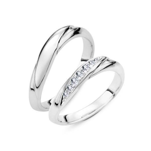 心繫一生 鉑金(白金)鑽石結婚對戒