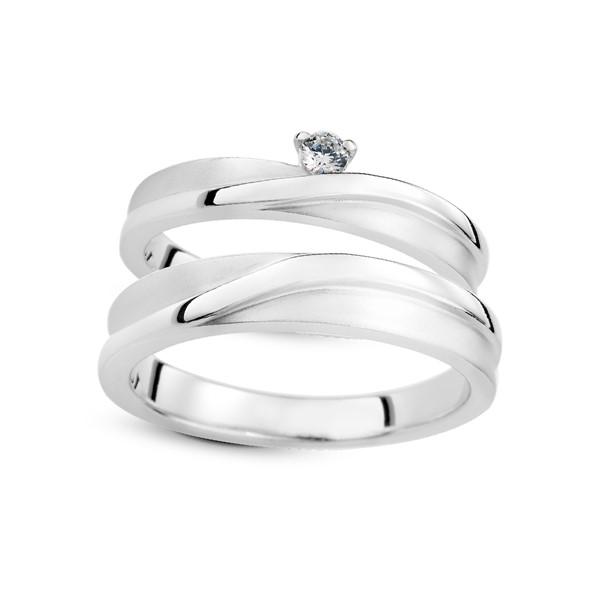 許願之星 鉑金(白金)鑽石結婚對戒