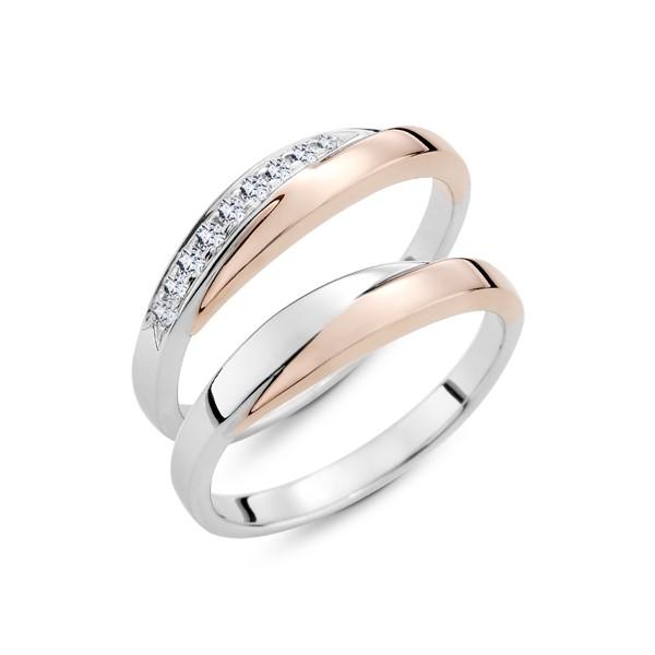 擁抱 白金結婚對戒