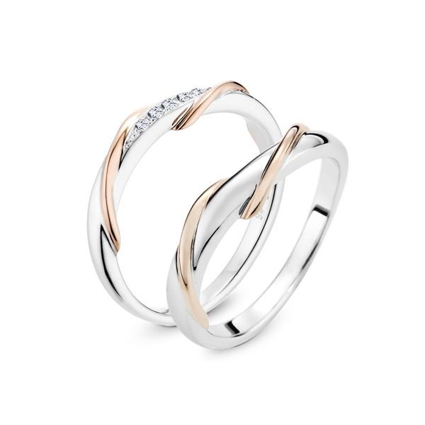 誓言 鉑金(白金)鑽石結婚對戒