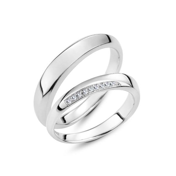 點滴回憶 鉑金(白金)鑽石結婚對戒