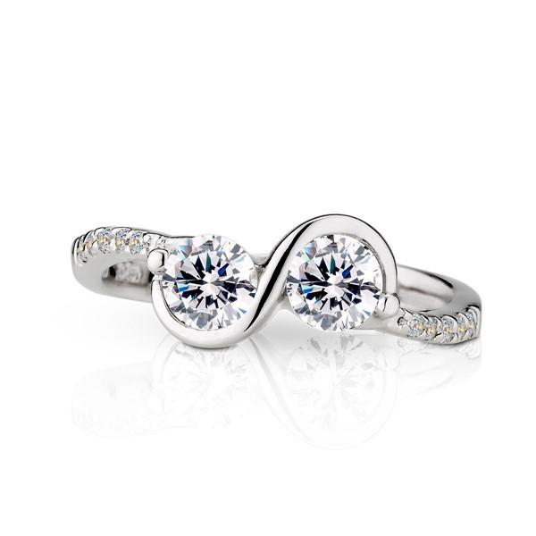 只想告訴你 鉑金(白金)鑽石結婚對戒