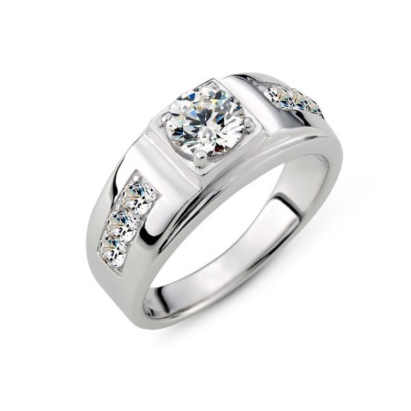 幸福的承諾 鉑金(白金)男款結婚對戒