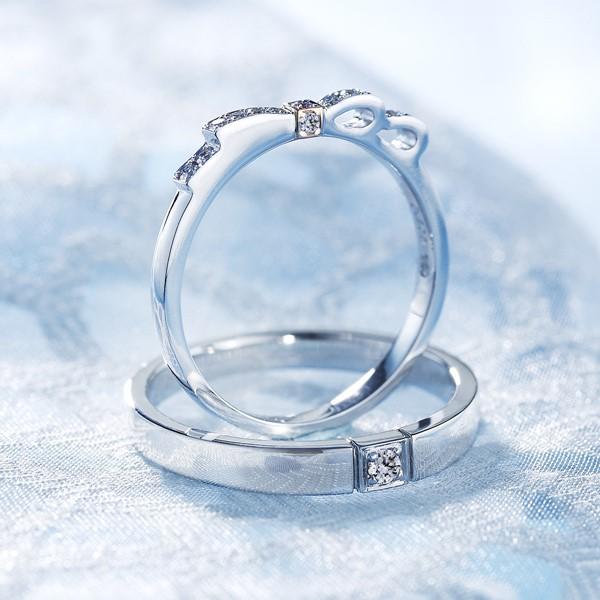 璀璨之星- 白金結婚對戒-男
