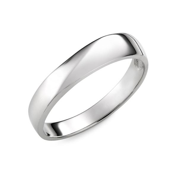 星空白金結婚對戒-男