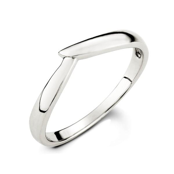 指尖的溫度白金結婚對戒-男
