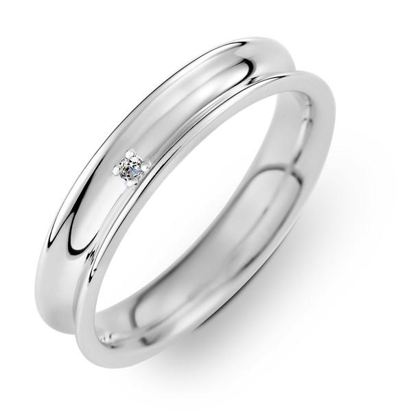 浪漫 鉑金(白金)男款結婚對戒