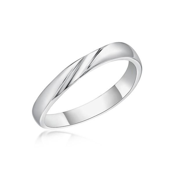 滿溢的幸福 鉑金(白金)男款結婚對戒