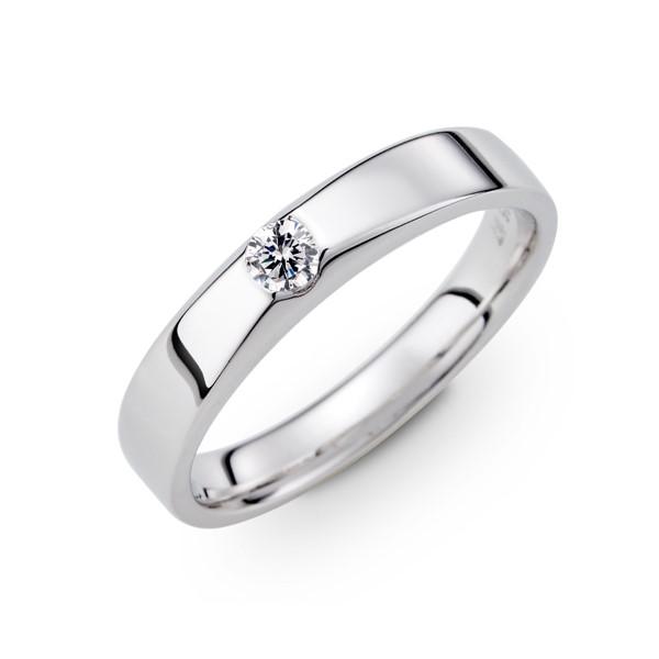 長相廝守 鉑金(白金)男款結婚對戒