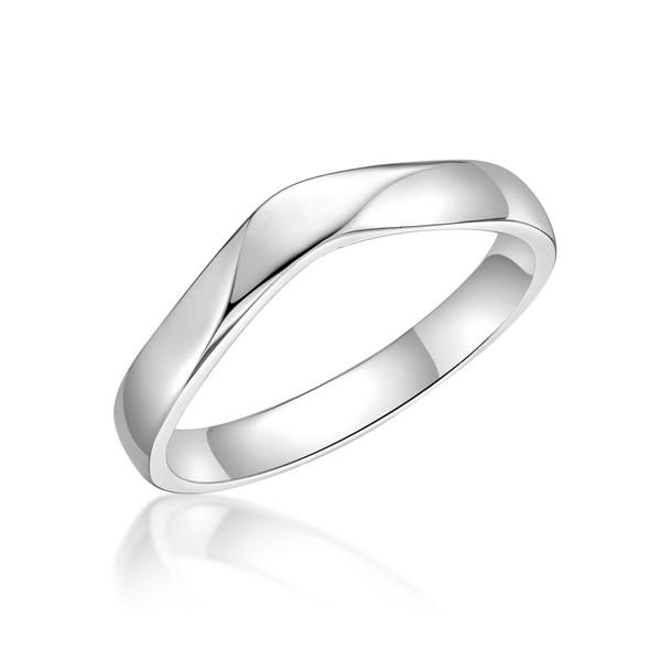 最美的時刻 鉑金(白金)男款結婚對戒