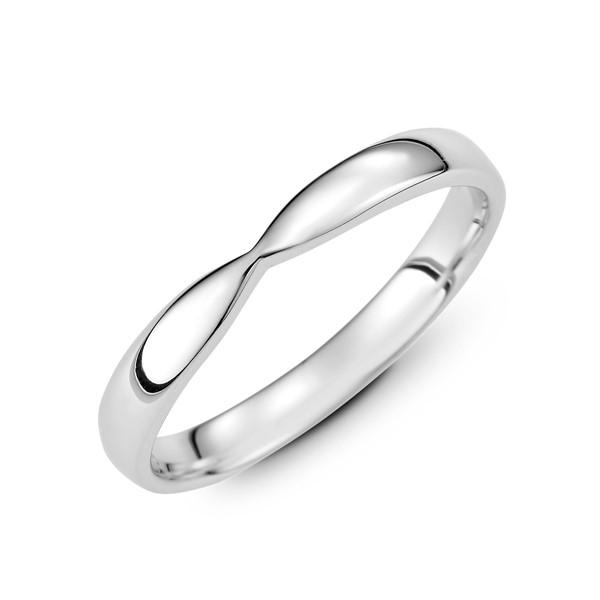 純粹的愛 鉑金(白金)男款結婚對戒