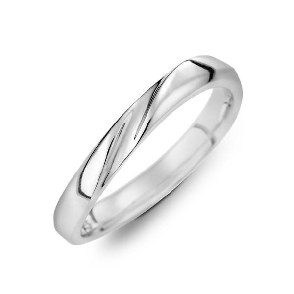 幸福樂章定情紀念 鉑金(白金)男款結婚對戒