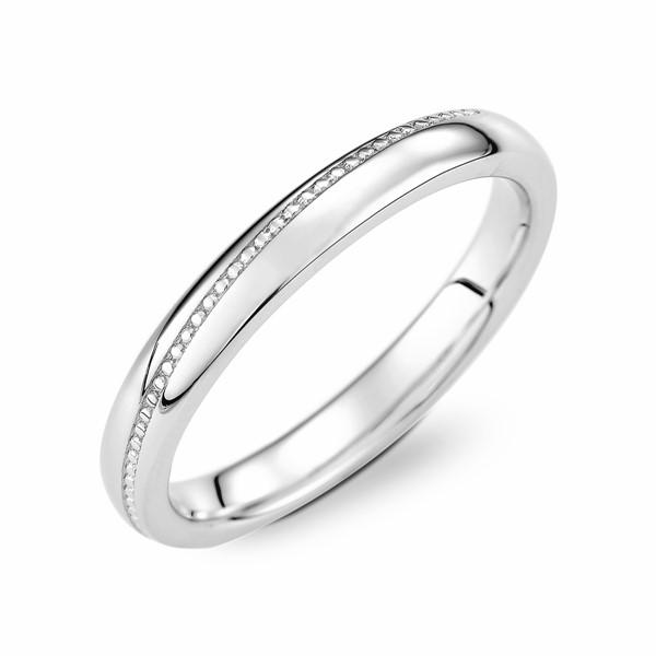 愛的約定 鉑金(白金)男款結婚對戒