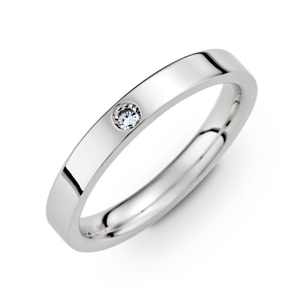 雋永經典鑲鑽刻字推薦款 白金(鉑金)男款結婚對戒