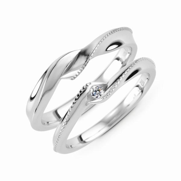 守護愛情 鉑金(白金)鑽石結婚套戒(三件組)
