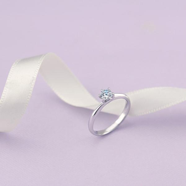 璀璨之星- 白金結婚戒-女(求婚戒)
