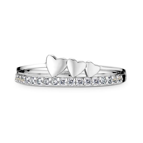 一箭穿心浪漫白金戒指