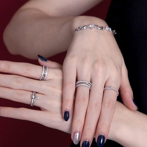 高貴氣質白金戒指