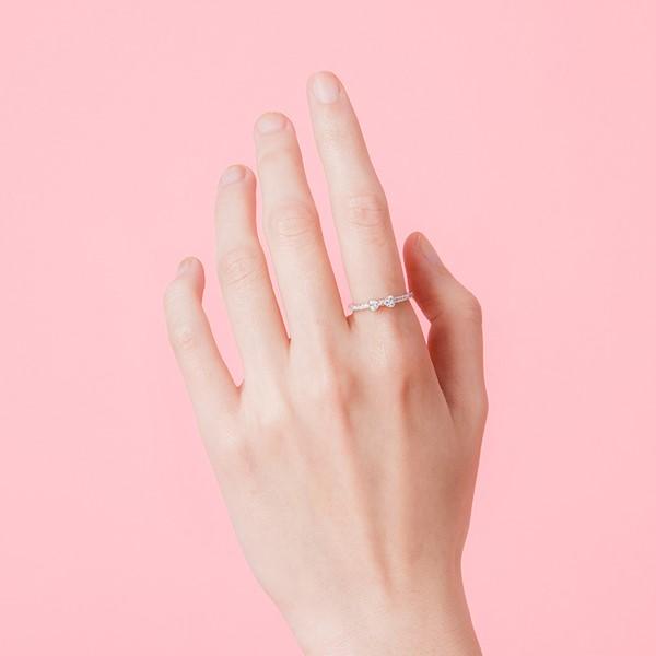 幸福吉祥璀鑽鉑金(白金)戒指