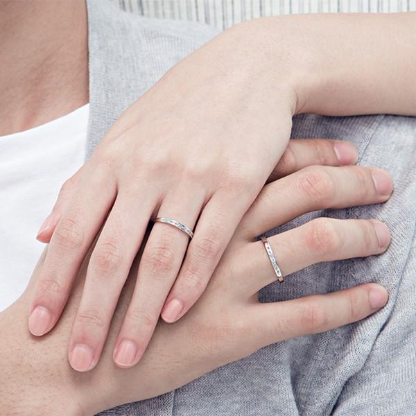 戀愛節奏白金結婚對戒-女
