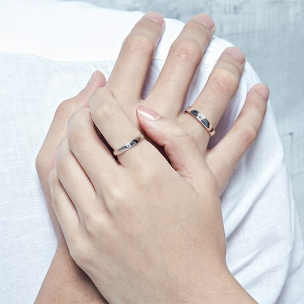 幸福見證白金結婚對戒-女