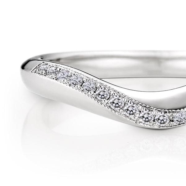 永恆的軌跡 - 白金結婚對戒-女