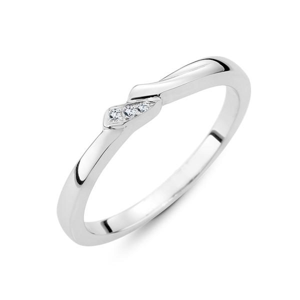 閃耀幸福 鉑金(白金)結婚對戒/女款