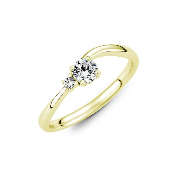 純潔之愛 黃金(14K金)鑽石結婚對戒(三件組)