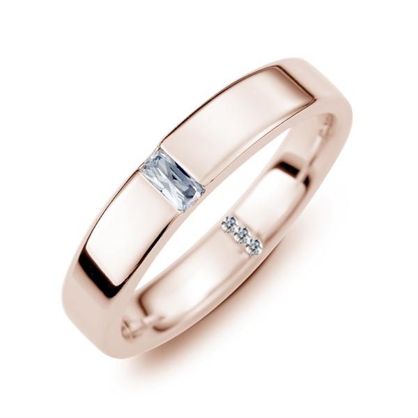 幸福一生一世 玫瑰金(18K金)鑽石結婚對戒