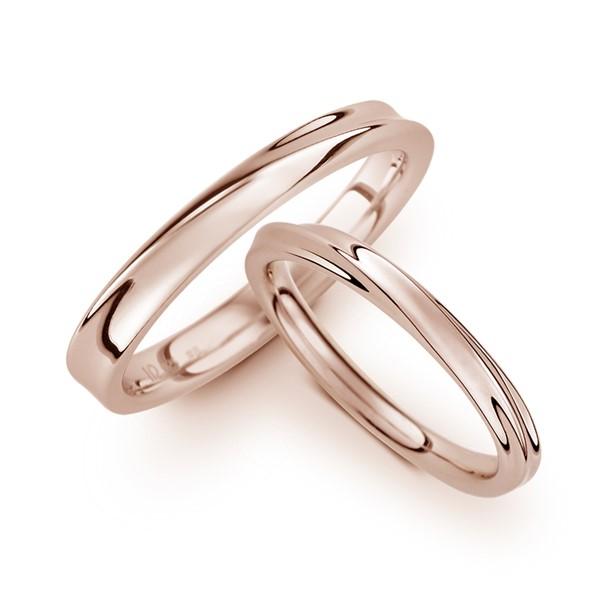 甜蜜愛戀 玫瑰金(18K金)結婚對戒