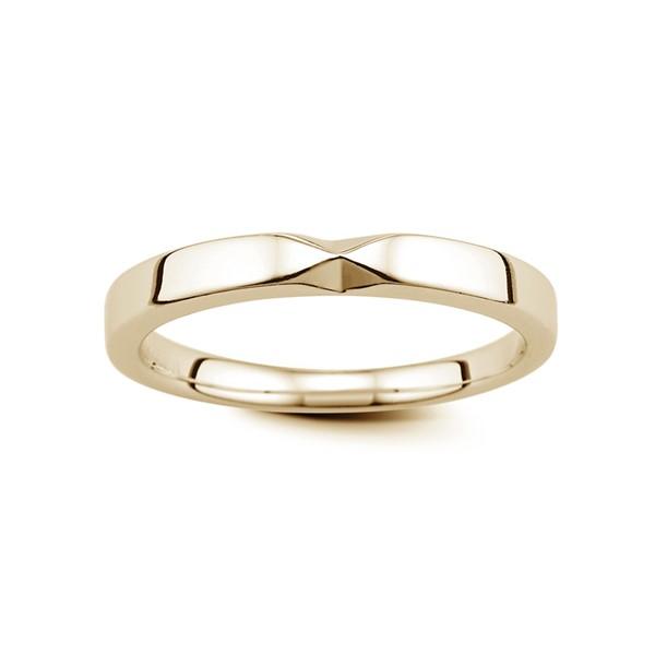 純白愛戀 玫瑰金(18K金)鑽石結婚對戒