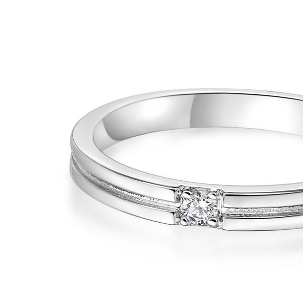 唯獨是你 玫瑰金(18K金)鑽石結婚對戒