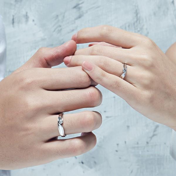 我們的愛心型組合式情侶戒指