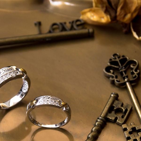 字母LOVE情侶對戒/一對販售