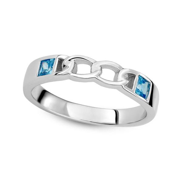 愛的扣環雙鑽純銀情侶對戒/一對販售