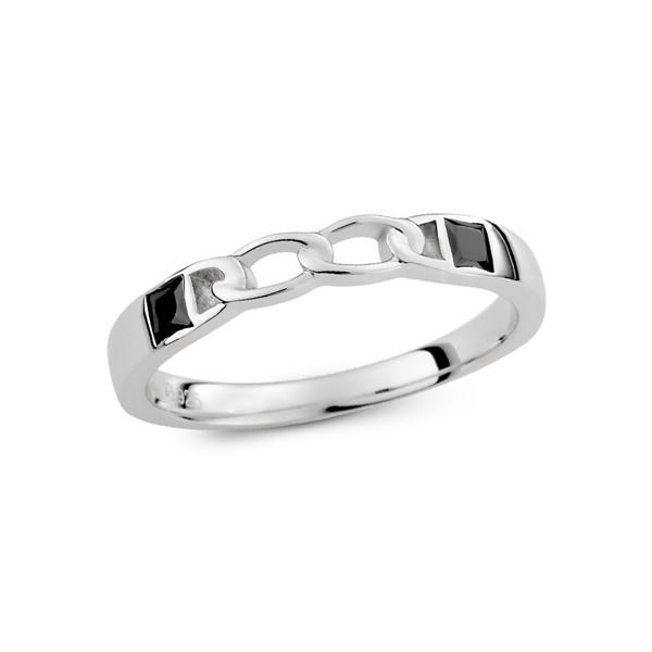 愛的扣環雙鑽情侶對飾