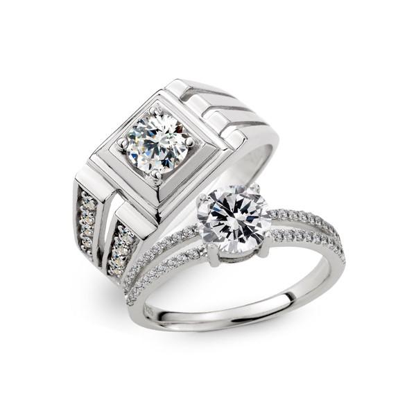 婚禮上的承諾 純銀情侶對戒/一對販售