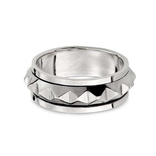 龐克造型旋轉戒指