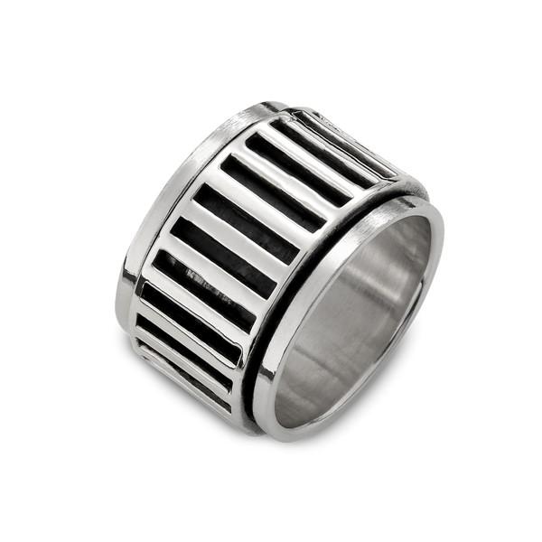 經典線條旋轉寬版戒指