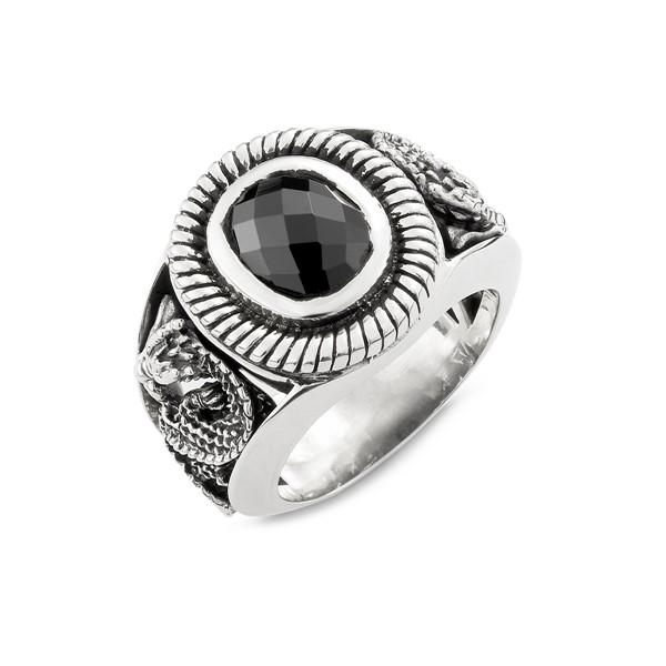 霸氣龍息純銀硫化戒指