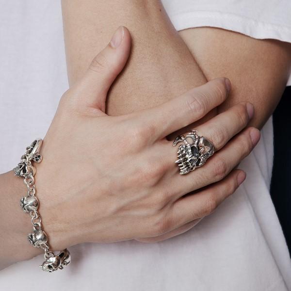 海盜骷髏簍空造型戒指