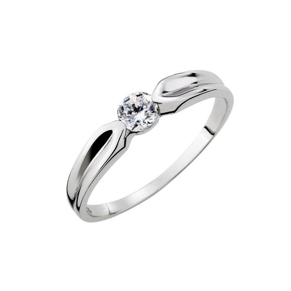 單鑽流線感戒指