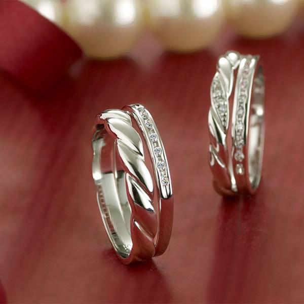 愛交織捲花設計感戒指