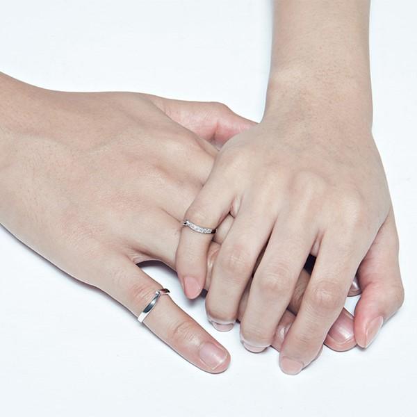 指尖的溫度純銀情侶對戒-男