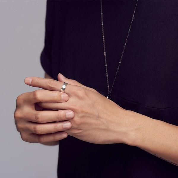 浪漫的話語凹面戒指