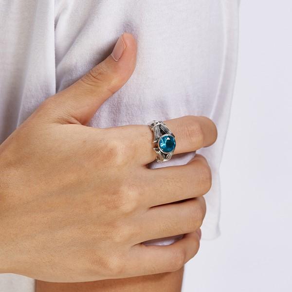 硫化藍之侍個性戒指