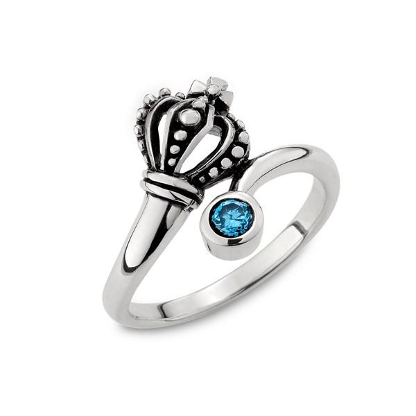 硫化藍色國王個性戒指