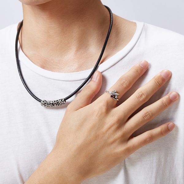 硫化紅心矛個性戒指
