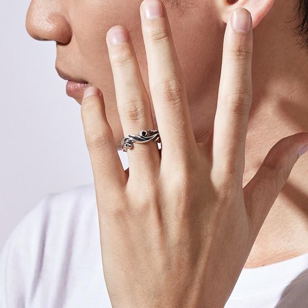 硫化復古圖騰個性戒指