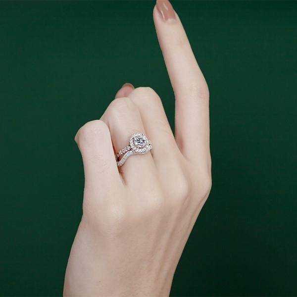 秘密波紋奢華 求婚套戒-純銀/4.1mm鋯石